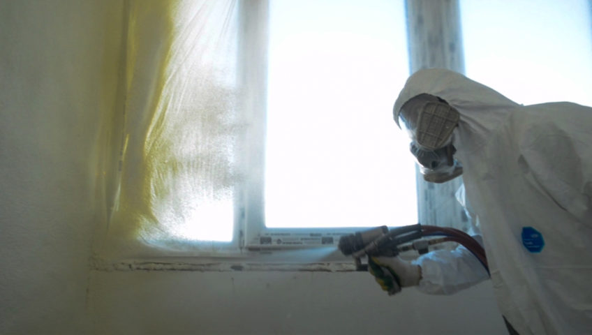 Утепление пенополиуретаном балкона 3