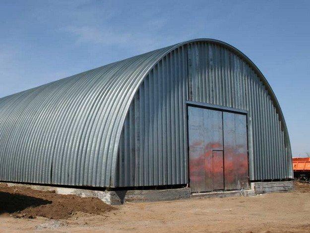 Услуги по строительству арочных ангаров