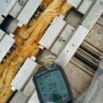 Проверка температуры основания перед нанесением полимерной мембраны.