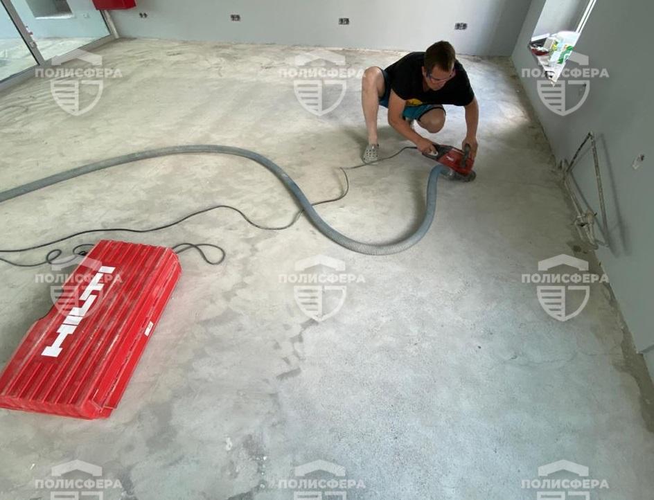 Шлифовка бетона оборудованием Hilti DG 150